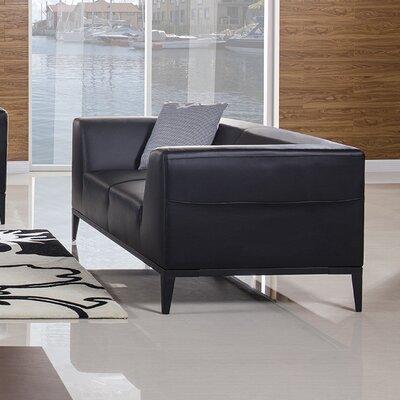 Olivia Loveseat Upholstery: Black