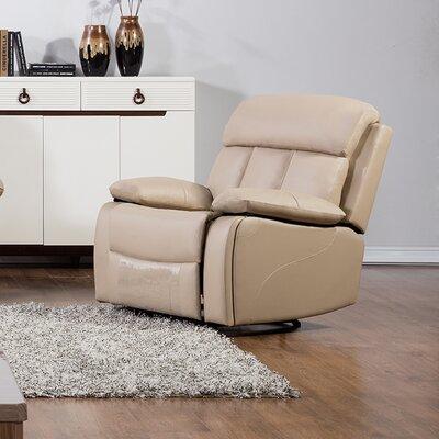 Dunbar Recliner Upholstery: Tan