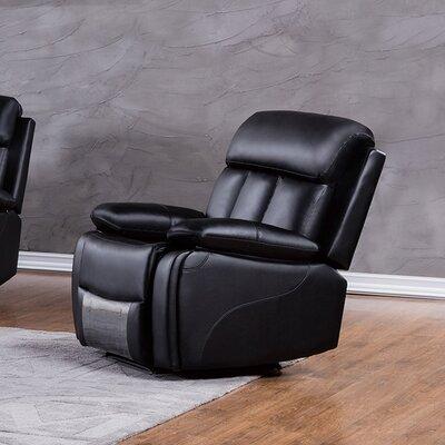Dunbar Recliner Upholstery: Black