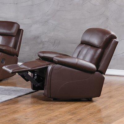 Dunbar Recliner Upholstery: Dark Brown