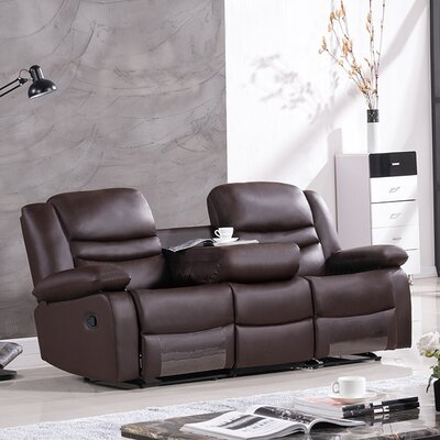Bayfront Reclining Sofa Upholstery: Dark Brown