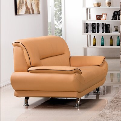 Arcadia Loveseat Upholstery: Yellow
