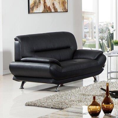 Arcadia Loveseat Upholstery: Black
