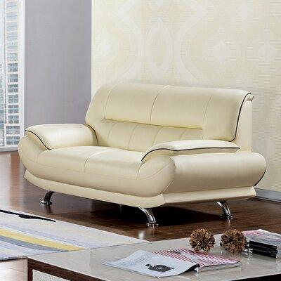 Arcadia Loveseat Upholstery: Ivory