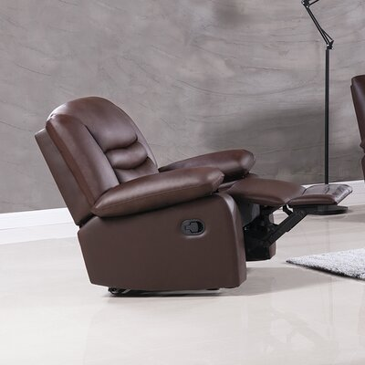 Bayfront Recliner Upholstery: Dark Brown