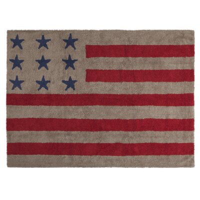 American Flag Handmade Red/Blue Area Rug