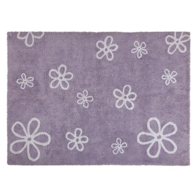 Flowers Handmade Purple Area Rug