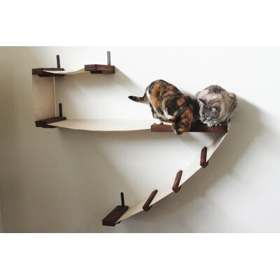 Ester 45 Deluxe Handcrafted Cat Perch Color: English Chestnut