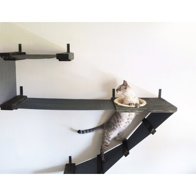 45 Deluxe Handcrafted Cat Perch Color: Onyx/Charcoal
