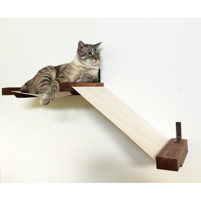 16 Small Fabric Raceway Handcrafted Cat Perch Color: English Chestnut