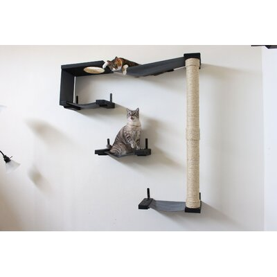 54 Sky Track Handcrafted Cat Tree Color: Onyx/Charcoal