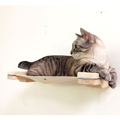 3 Mod Lounge - Cat Hammock & Climbing Activity Center - Handcrafted Wall-mounted Shelves Cat Tree Color: Unfinished/Natural