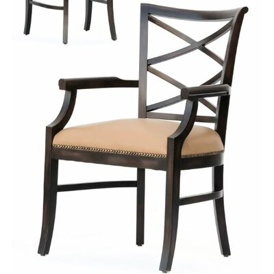 Manhattan Loft Remo Genuine Leather Upholstered Dining Chair Finish: Espresso
