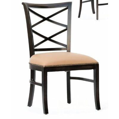 Manhattan Loft Remo Genuine Leather Upholstered Dining Chair (Set of 2) Finish: Espresso