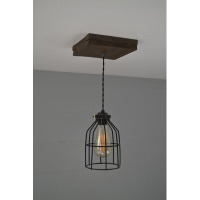 Single Wood 1-Light Foyer Pendant