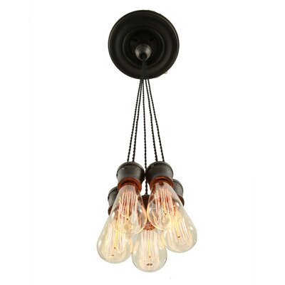 Industrial 5-Light Cluster Pendant