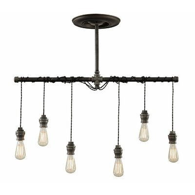 Industrial 6-Light Kitchen Island Pendant