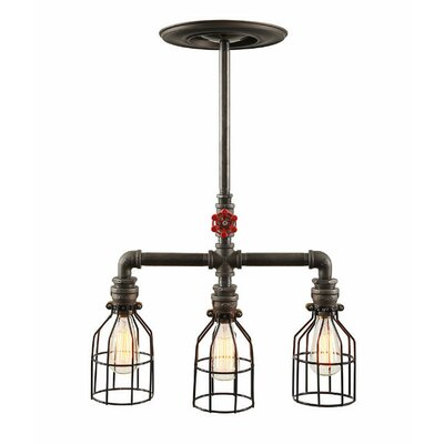 Industrial 3-Light Kitchen Island Pendant