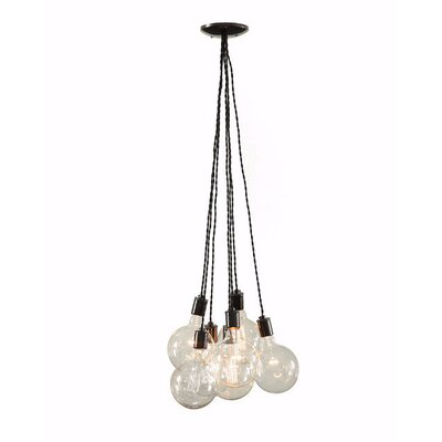 Modern Porcelain 7-Light Cluster Pendant