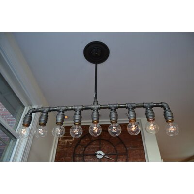 Industrial 9-Light Kitchen Island Pendant