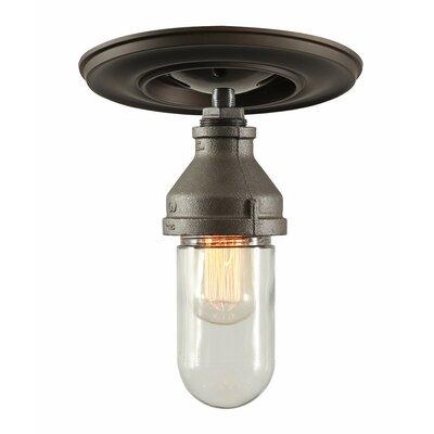 Industrial 1-Light Semi Flush Mount