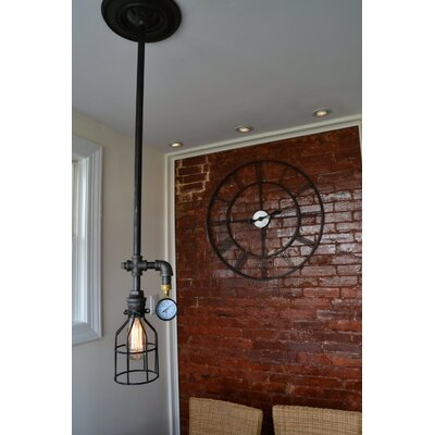 Industrial 1-Light Foyer Pendant