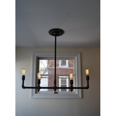 Steel 4-Light Kitchen Island Pendant