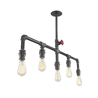 Steel Chandy 5-Light Kitchen Island Pendant