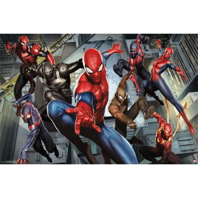'Ultimate Spider-Man Characters' Graphic Art Print Poster F33SP052