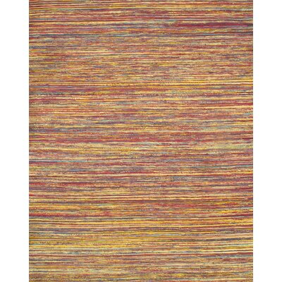 Hand-Loomed Red/Blue Area Rug