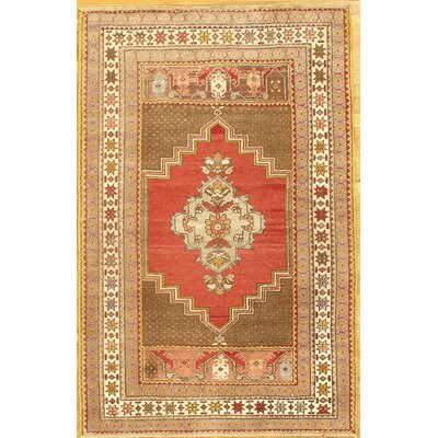 Handmade Red/Brown Area Rug
