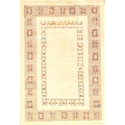 Gabbeh Gold Hand-Knotted Area Rug