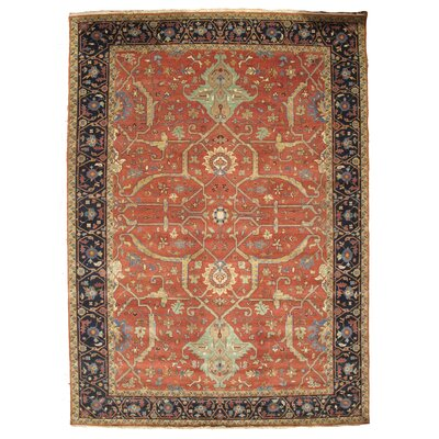 Serapi Hand-Woven Red Area Rug