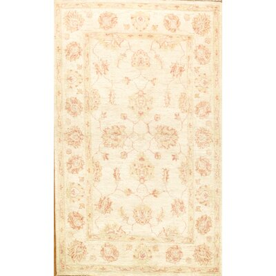 Farahan Hand-Knotted Beige Area Rug