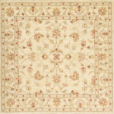 Ferahan Hand-Knotted Beige Area Rug