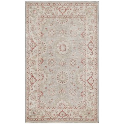 Ferehan Hand-Knotted Pink Area Rug
