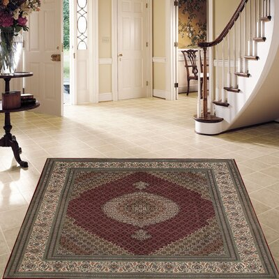 Fine Persian Hand-Knotted Red Area Rug