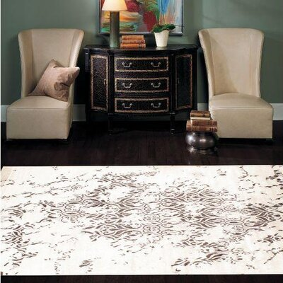 Hand-Knotted Gray/Tan Area Rug