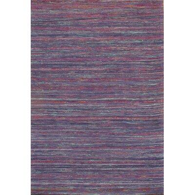 Contemporary Sari Silk Hand-Tufted Purple Area Rug