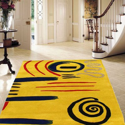 Modern Hand-Tufted Yellow Area Rug