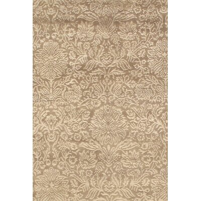 Modern Hand Knotted Silk/ Wool Camel Area Rug