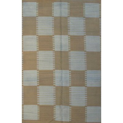 Scandinavian Design New Zealand Hand Knotted Wool Beige/Gray Area Rug