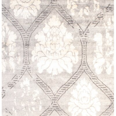 Modern Hand Tufted Silk Gray Area Rug
