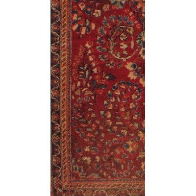 Antique Persian Sarouk Hand Knotted Wool Rust Area Rug