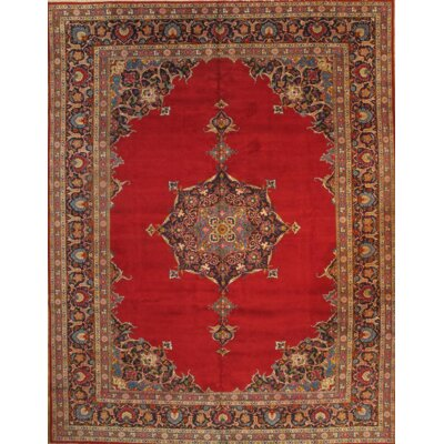 Original Kashan Hand Knotted Wool Red/Brown Area Rug