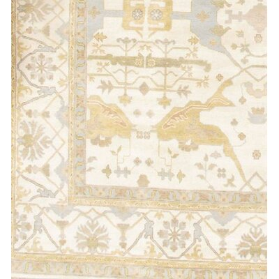 Oushak Turkish Design Hand Knotted Wool Beige Area Rug
