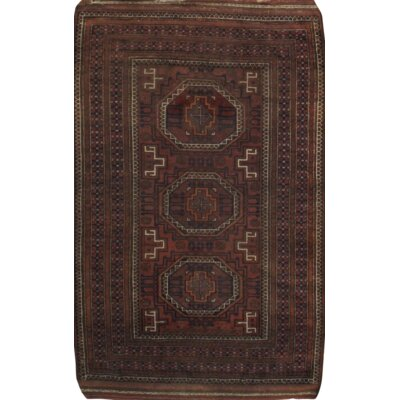 Balouch Hand Knotted Wool Rust Area Rug