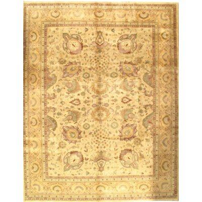 Sultanabad Design Hand-Knotted Wool Beige/Camel Area Rug