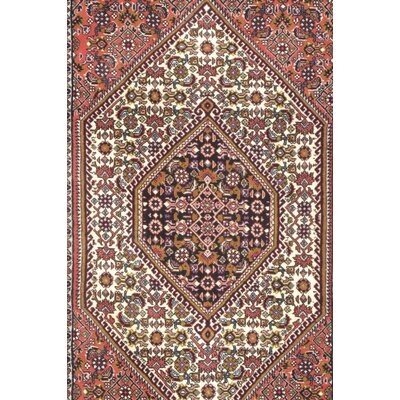 Bidjar Persian Hand-Knotted Wool Ivory Area Rug