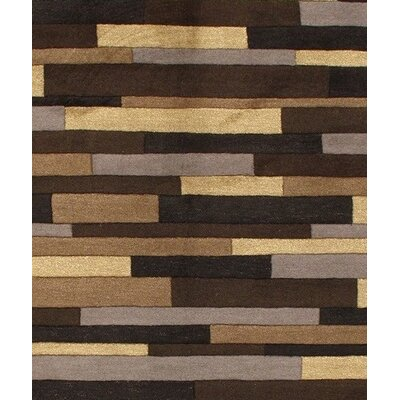 Hand-Tufted Wool Brown Area Rug